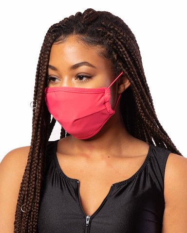 Fuchsia Red Cloth Mask w/ Filter Pocket