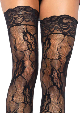Rose Lace Thigh Highs