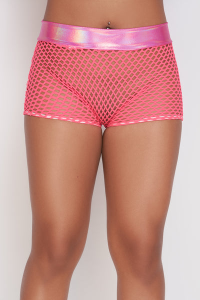 Daisy Fishnet Shorts - The Beauty Cave Boutique