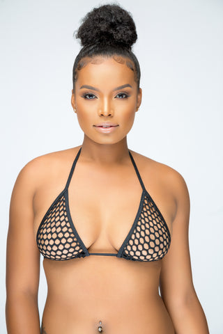 Fishnet bikini top - The Beauty Cave Boutique