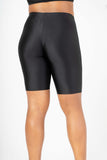 Black High Waist Biker Shorts