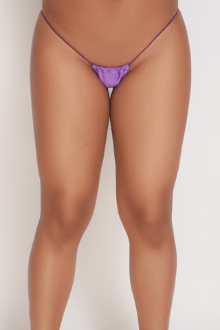 Purple Micro String Thong