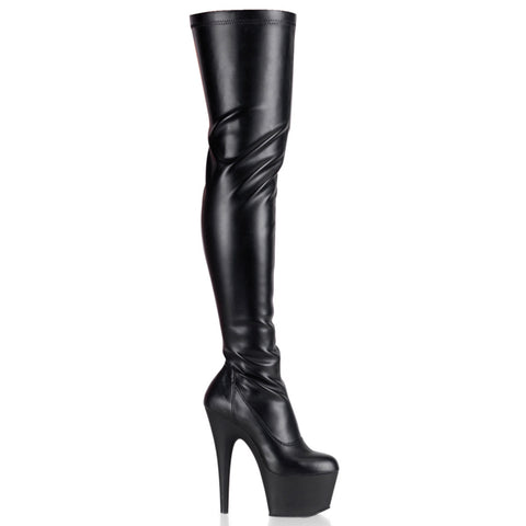 Black Stretch Thigh Boot