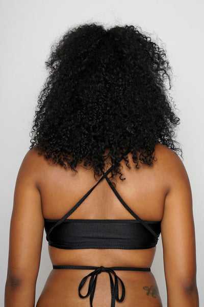 Black Criss Cross Crop Top - The Beauty Cave Boutique