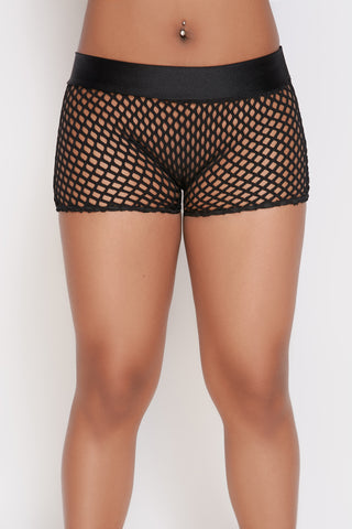 Daisy Fishnet Shorts
