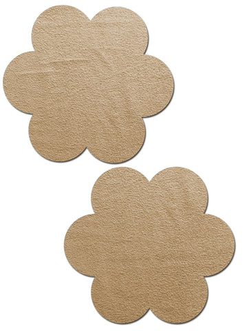 Camel Suede Flower Nipple Pasties