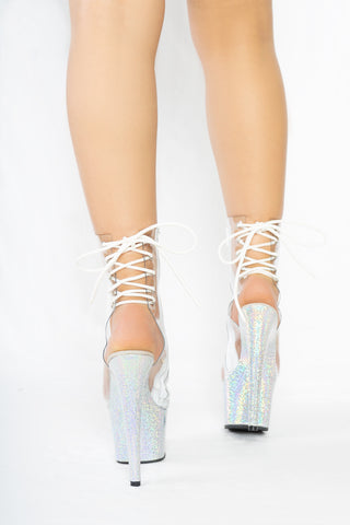 Dream Collection Clear Ankle Boots