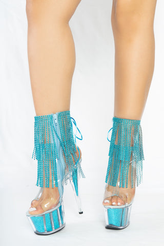 Turquoise Sequence Fringe - The Beauty Cave Boutique