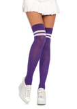Ribbed athletic thigh highs - The Beauty Cave Boutique