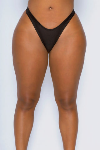 Black Bae Watch High Leg Thong