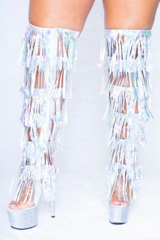 Dream Collection Clear Fringe Boots