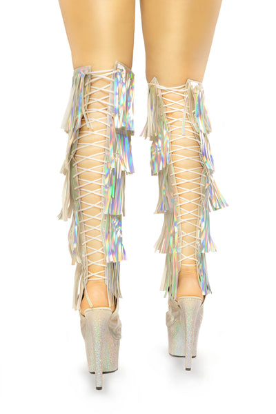 Dream Collection fringe thigh boots - The Beauty Cave Boutique