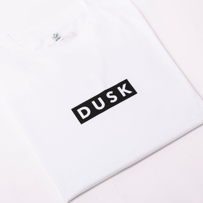DUSK Empire Box Logo Tee White/Black
