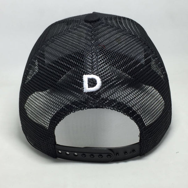 DUSK Black Trucker Cap