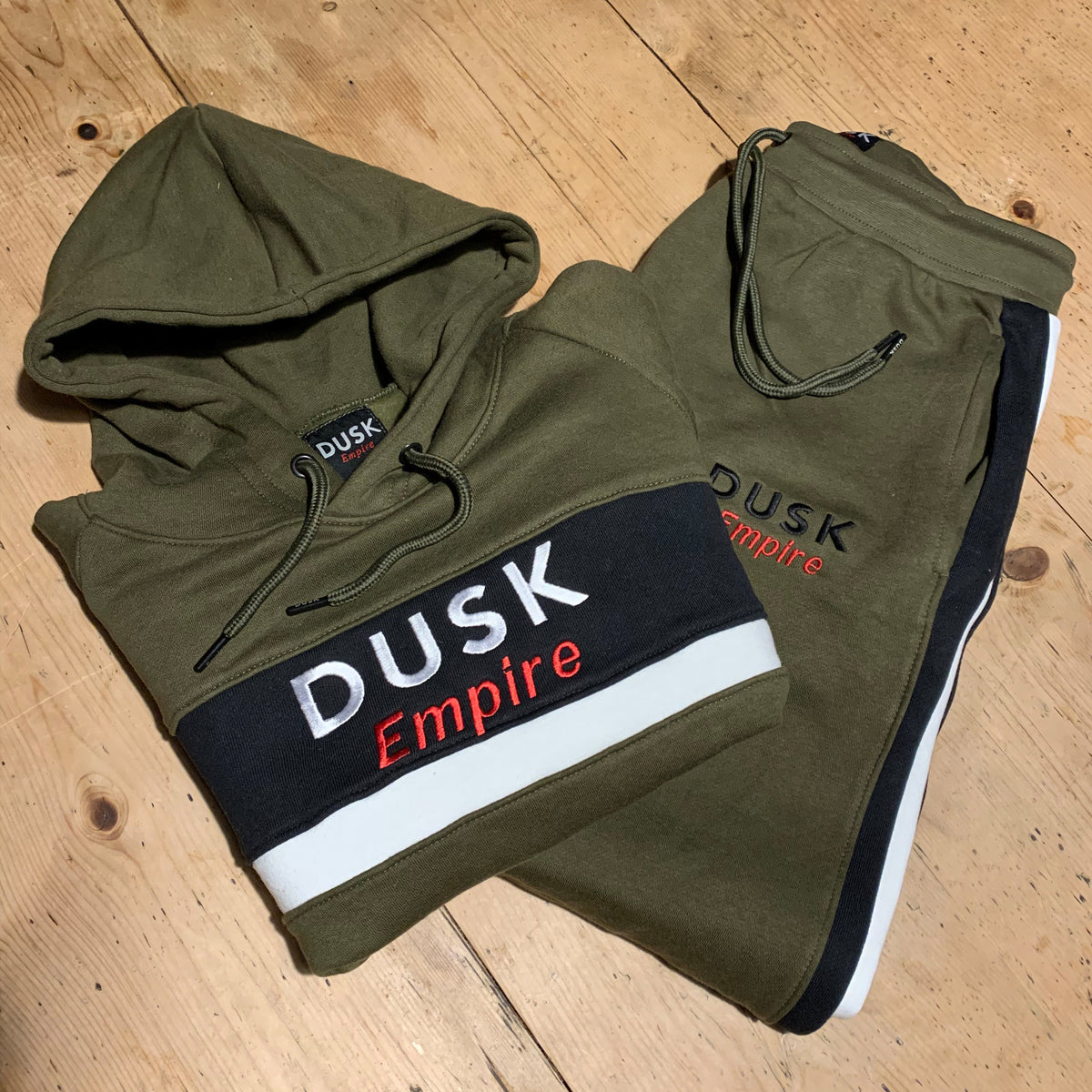 DUSK Empire Khaki Panel Tracksuit