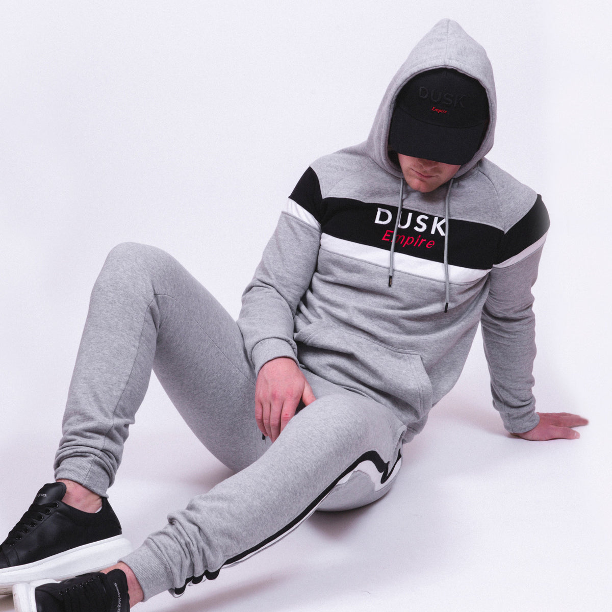 DUSK Empire Grey Panel Tracksuit
