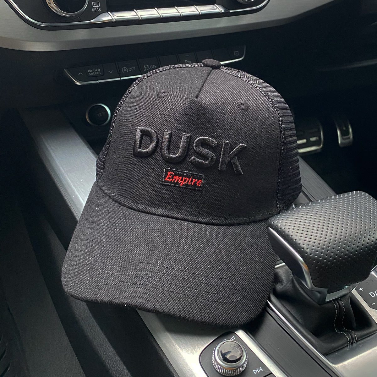 DUSK Empire Black on Black Trucker Cap