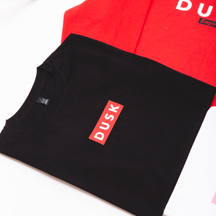 DUSK Empire Box Logo Tee Black / Red
