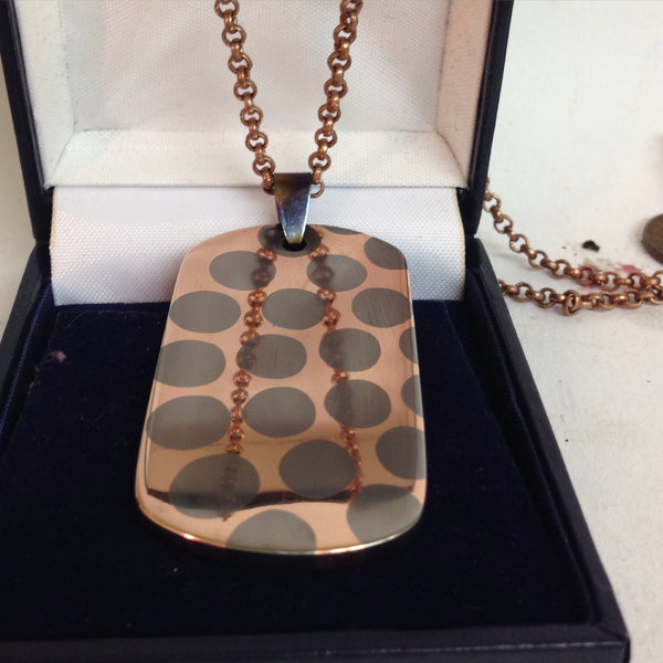Etched Superconductor Dog Tag