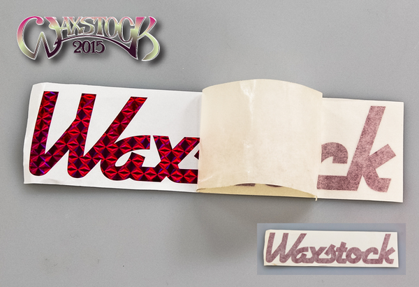 Waxstock 2015 vinyl car sticker