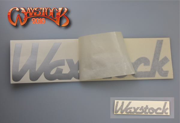 Waxstock 2016 vinyl car sticker