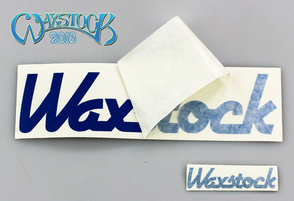 Waxstock 2018 vinyl car sticker (blue)