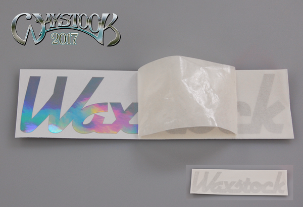 Waxstock 2017 vinyl car sticker
