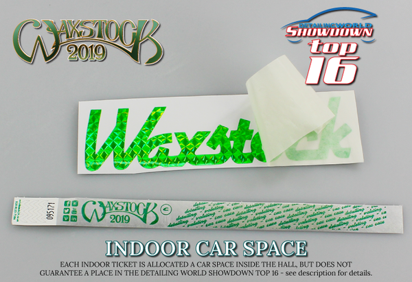 Waxstock 2019 Detailing World INDOOR CAR SPACE (SHOWDOWN Selection & Adult Ticket)