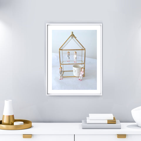Dolls Home, Art print photo  .. Maison de Poupées, Impression d'art