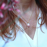 Miniature porcelaine strawberry necklace .. collier mini fraise en porcelaine