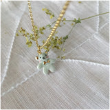 Miniature porcelaine teddy bear necklace .. collier mini mini ourson en porcelaine
