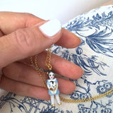 mini Alice in Wonderland- porcelain doll necklace .. mini Alice au pays des merveilles- collier en porcelaine