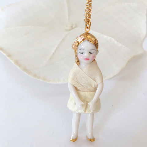 Custom bride's doll necklace x 2