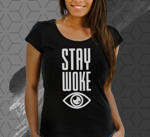 """Stay Woke"" - Tshirt (Ladies)"