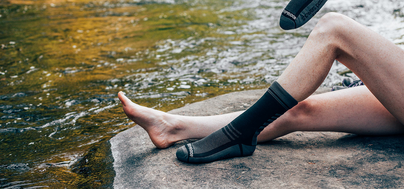 Crosspoint Waterproof Socks have an ergonomic fit and feel