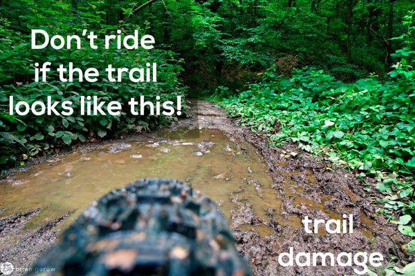 Don't mountain bike in the rain if the trail looks like this.