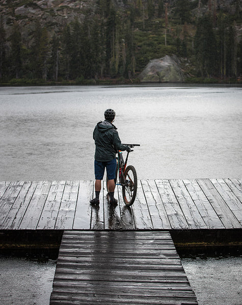 Embrace the rain mountain biking