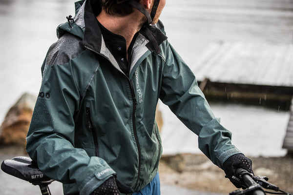 invest in a quality waterproof jacket for mountain biking in the rain