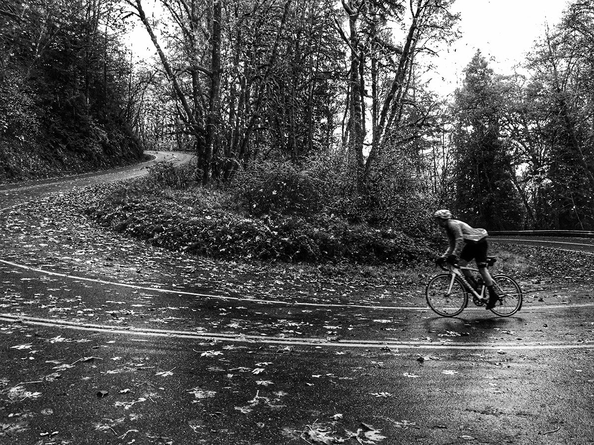 Aaron Edge Cycling in the Fall