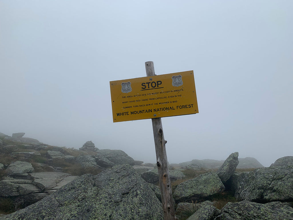 Warning Sign - Mt. Washington is known for having the worst weather