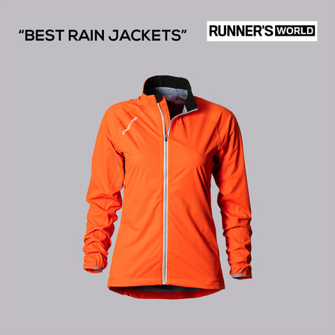 Runner's World reviews the Women's Cloudburst Waterproof Running Jacket