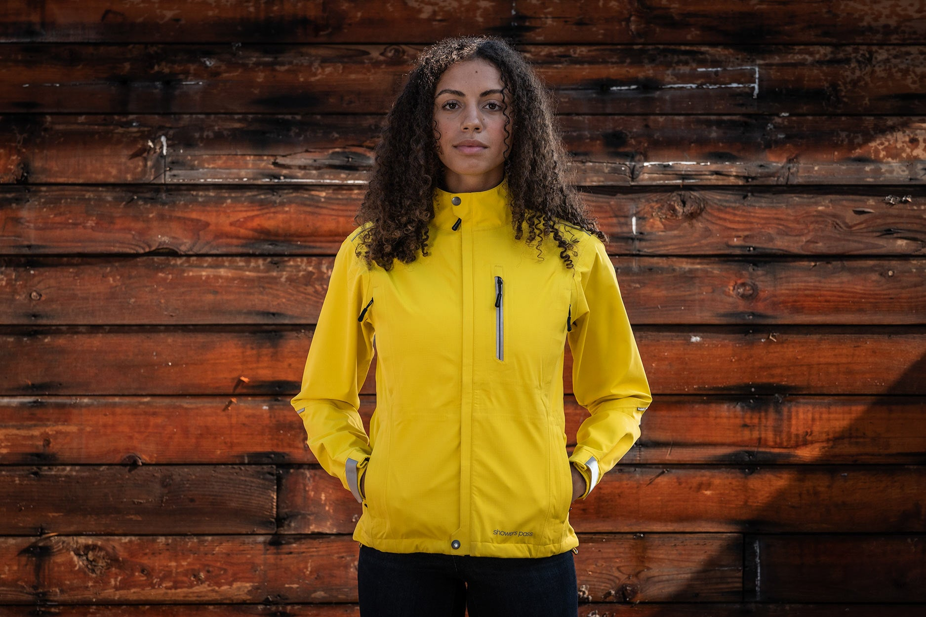 Women's Transit CC Jacket - Yellow bike commuter jacket