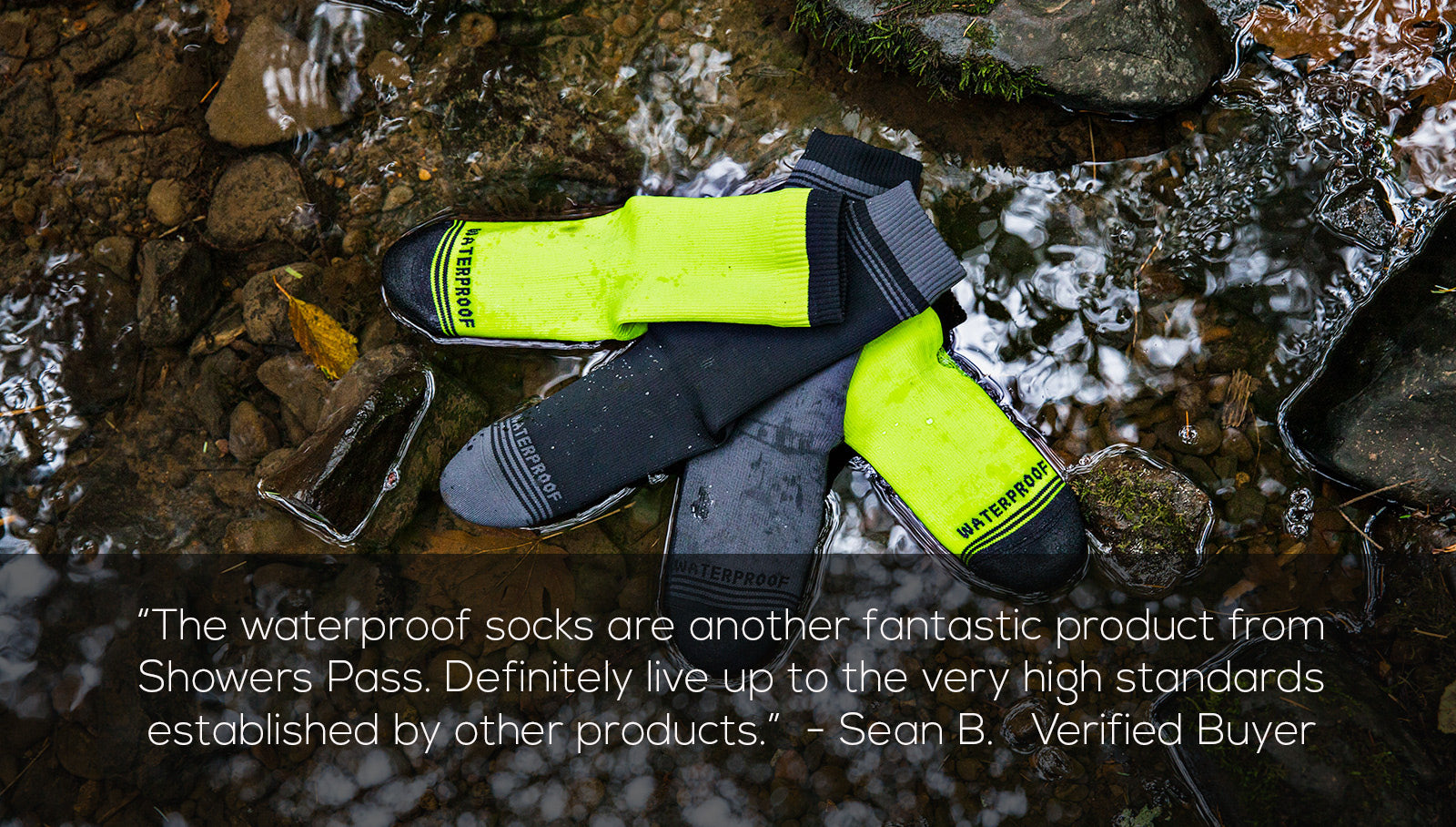 Waterproof Socks testamonial