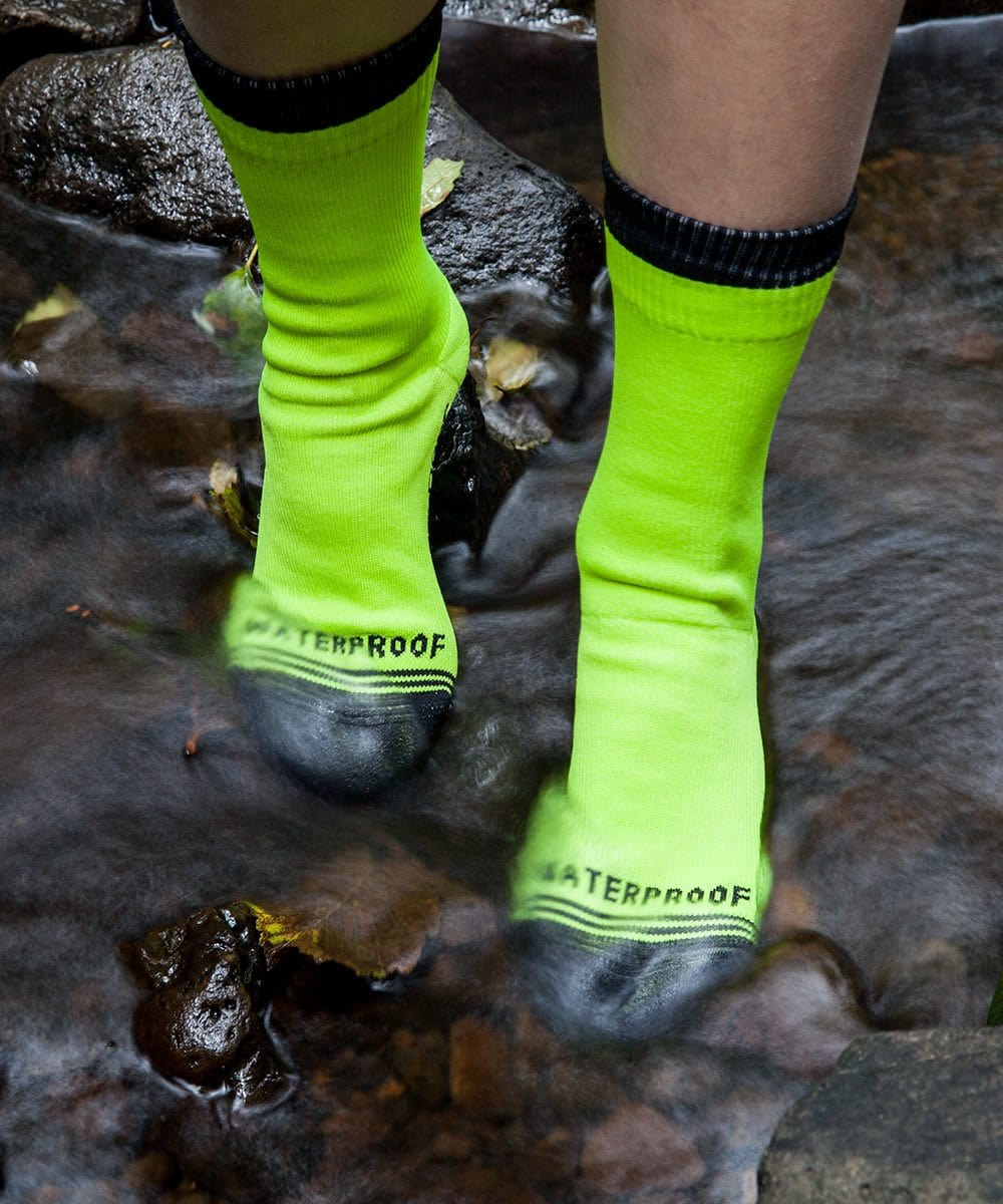 Crosspoint Waterproof Hi-Viz Crew Socks