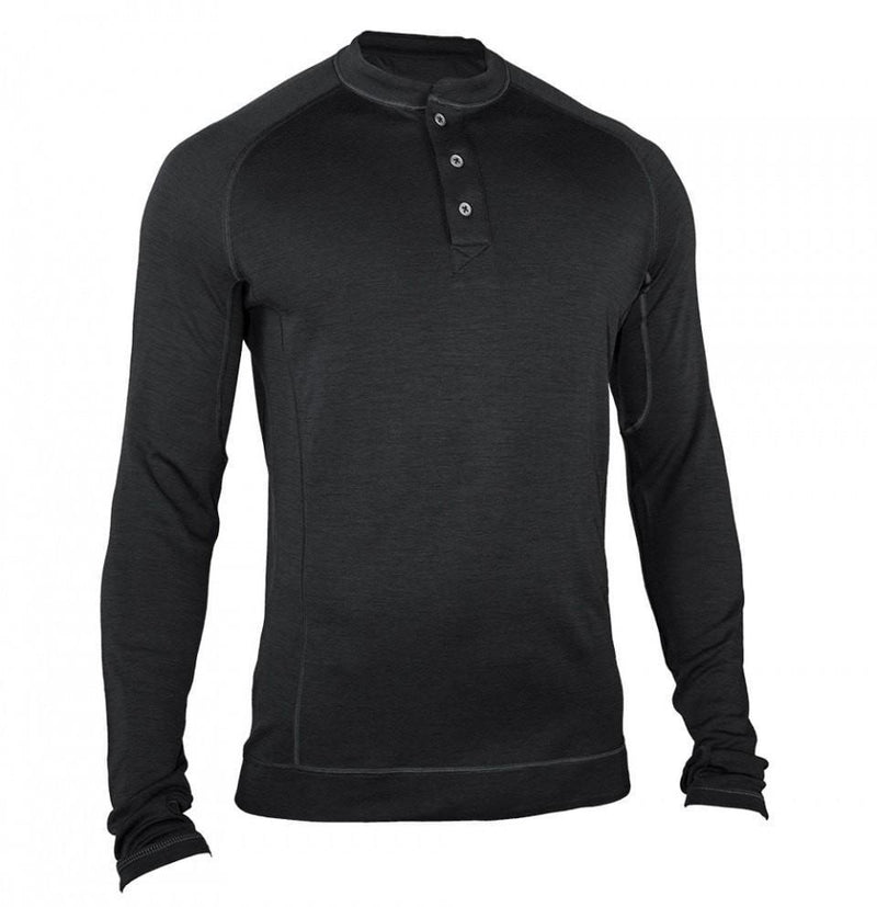 Bamboo merino men 39 s long sleeve henley shirt sp for Mens collared henley shirt