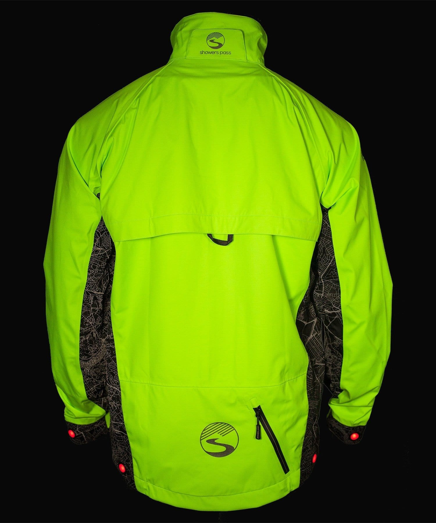 harmonious colors best online exceptional range of colors Men's Hi-Vis Elite E-Bike Jacket - with Red LED Beacon Lights