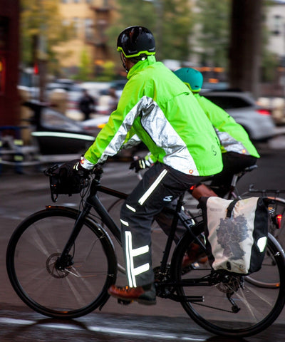 Men's Hi-Vis Elite Jacket - with Red LED Beacon Lights