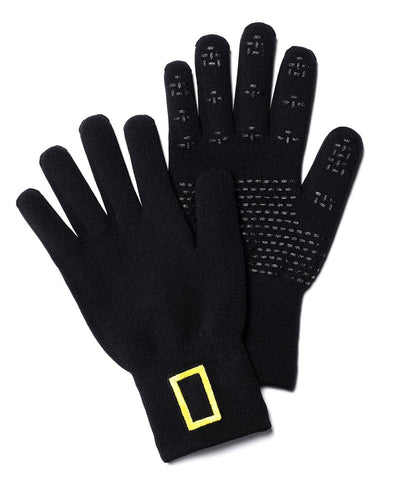 National Geographic Knit Waterproof Gloves Wool-Blend