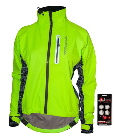 Women's Hi-Vis Elite E-Bike Jacket with Beacon Lights