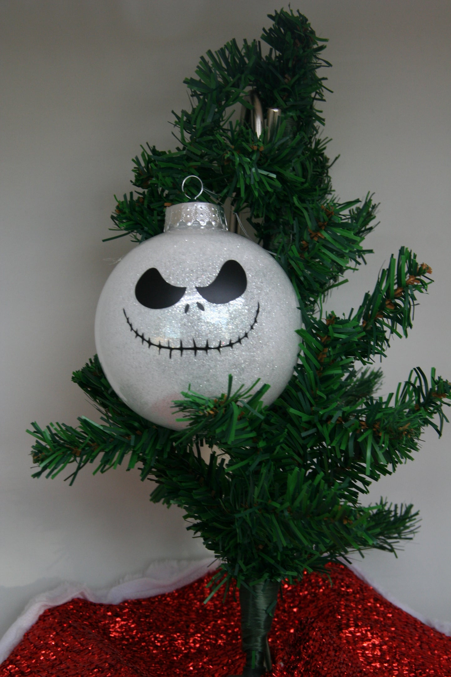 Nightmare Before Christmas Glitter Christmas Ornament – Crafty ...